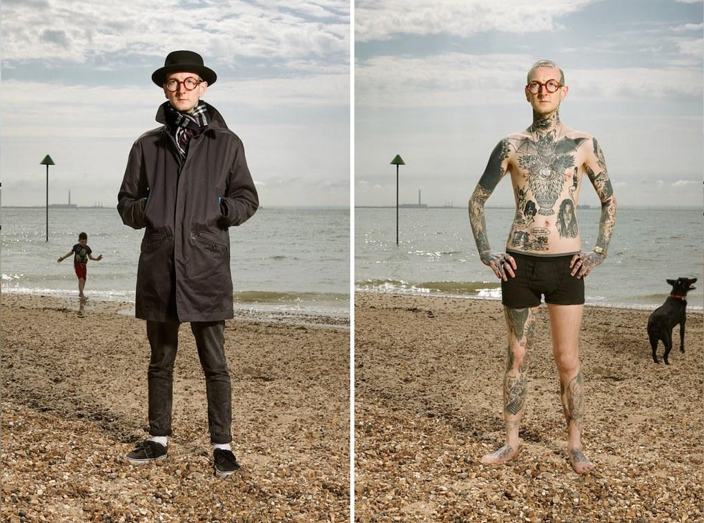 Необычный фотопроект: татуированные люди в одежде и без нее ?