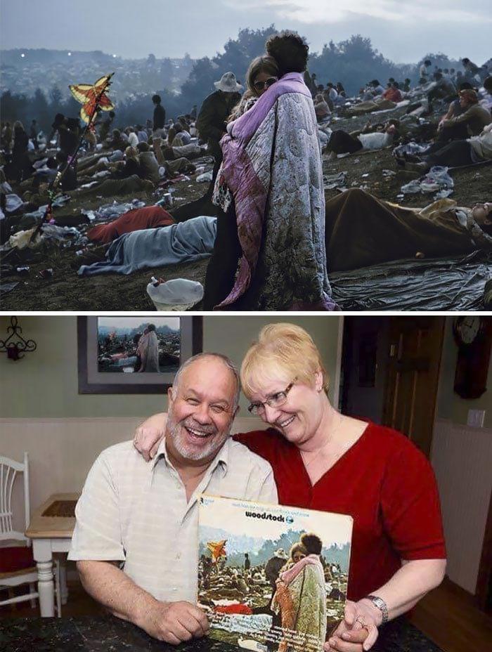 25 потрясающих фотографий пар в стиле «тогда и сейчас», заставляющих поверить в вечную любовь