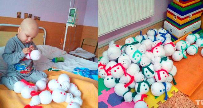 4-летний малыш своими руками сшил игрушки, чтобы собрать средства на свое лечение