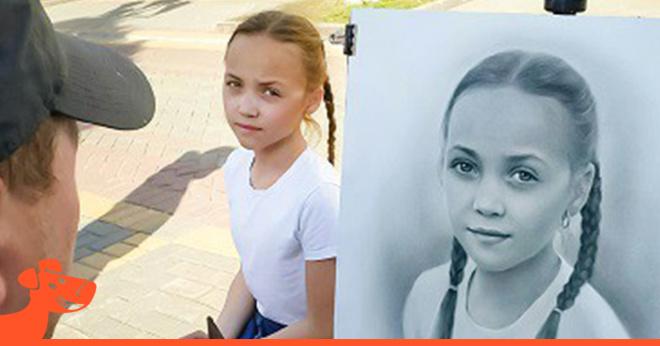 Российский уличный художник создает гиперреалистичные портреты всего за 1 час