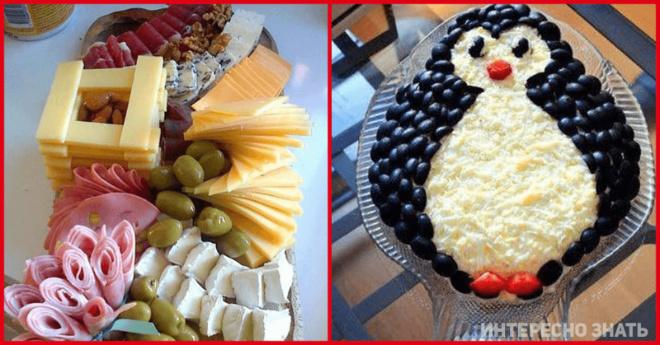 Идеи для нетипичного и праздничного оформления блюд на Новый год