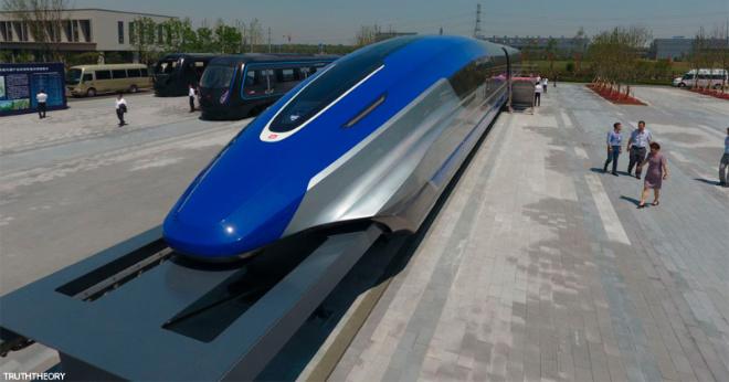 В Китае появился ″левитирующий″ поезд, который ездит быстрее, чем летают самолеты