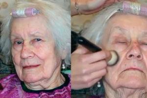 Внучка визажистка решила подарить бабушке вторую молодость