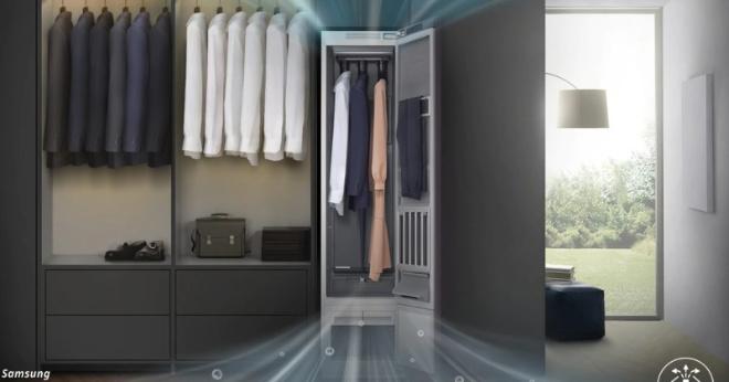 Samsung выпустил умный шкаф, который сам гладит одежду