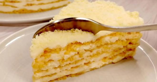 Торт «Пломбир» без духовки и печенья. Усовершенствованный новый рецепт!