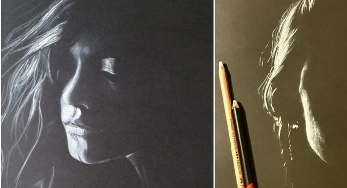 Это волшебно: художник рисует женские портреты которые будто сотканы из света