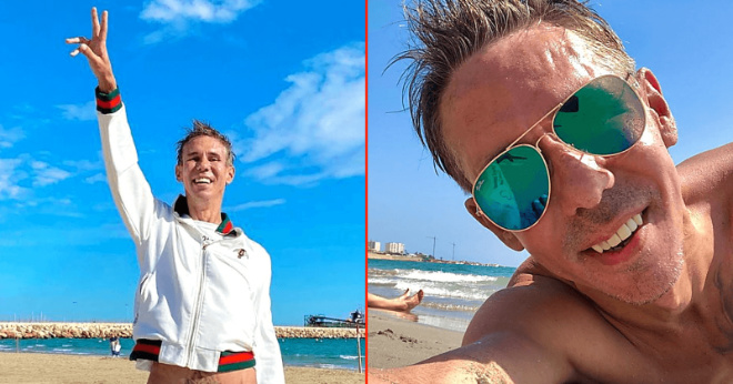 «Утром кофе, Сангрия в обед, на пляж без одежды!»: Панин счастлив в Испании