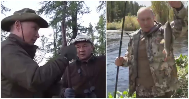 Опубликованы видеокадры отдыха Путина и Шойгу с Сибири